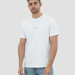 Organic Cotton T-Shirt made in Portugal Jay Blanc small Logo