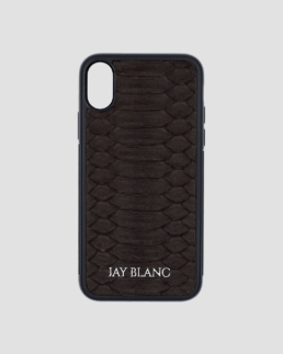 Brown Python exotic leather iPhone X Case