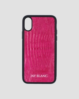 Pink Lizard exotic leather iPhone case