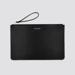 Black Leather Clutch Designer Accessory