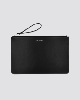 Black Leather Clutch Designer Accessory