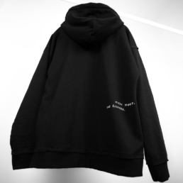 make money not friends oversized black hoodie