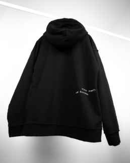 make money not friends oversized black hoodie