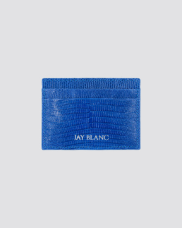 Blue designer card holder