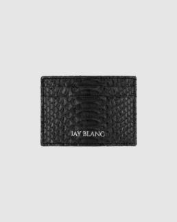 Python cardholder in black