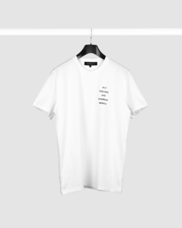 White T-Shirt with Guardian Angels quote