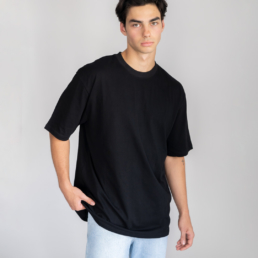 Jay Blanc oversized black t-shirt