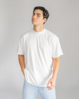 relaxed T-Shirt-Flat-White-Basic